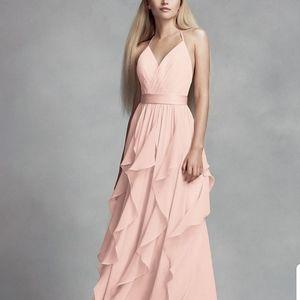 Blush  bridesmaid dress. White by Vera Wang